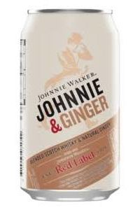 Johnnie Walker and Ginger cans