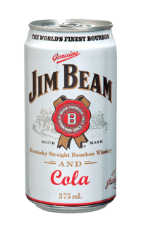 Jim Beam White Label Bourbon & Cola cans1