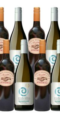 Value Shiraz andSavvy Blanc mixed dozen wines